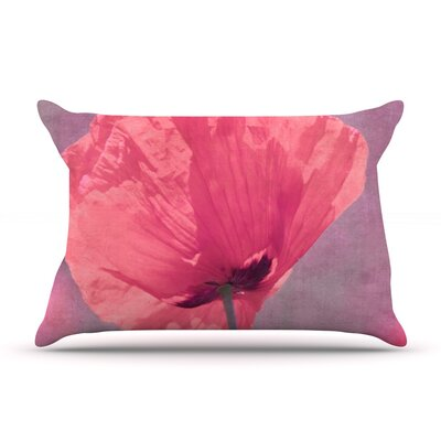 Iris Lehnhardt Poppy Flower Pillow Case