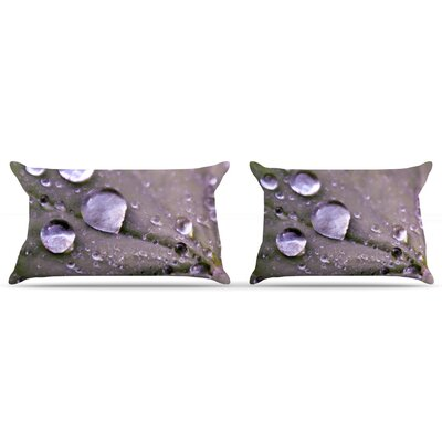 Water Droplets by Iris Lehnhardt Featherweight Pillow Sham Size: King, Color: Purple, Fabric: Woven Polyester