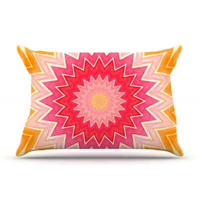 Iris Lehnhardt You are my Sunshine Pink Orange Featherweight Sham Size: King, Fabric: Woven Polyester