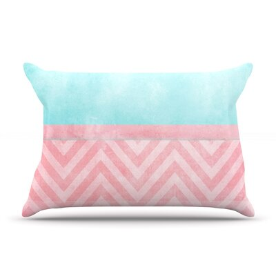 Ingrid Beddoes Light Chevro Blush Pillow Case