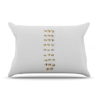 ABC by Ingrid Beddoes Featherweight Pillow Sham Size: King, Fabric: Woven Polyester