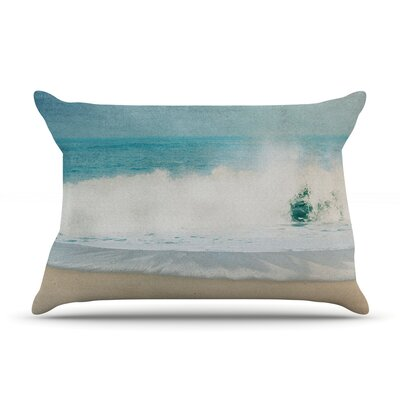 Ocean Blues by Ingrid Beddoes Featherweight Pillow Sham Size: Queen, Fabric: Woven Polyester