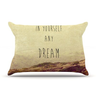Believe by Ingrid Beddoes Featherweight Pillow Sham Size: King, Fabric: Woven Polyester