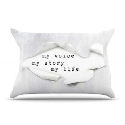My Life by Ingrid Beddoes Featherweight Pillow Sham Size: King, Fabric: Woven Polyester