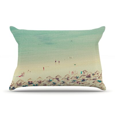 Happy Summer by Ingrid Beddoes Featherweight Pillow Sham Size: King, Fabric: Woven Polyester