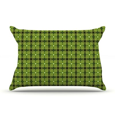 Floral Green by Matthias Hennig Featherweight Pillow Sham Size: Queen, Fabric: Woven Polyester