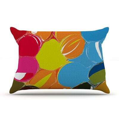 Matthias Hennig Bubbles Rainbow Circles Pillow Case