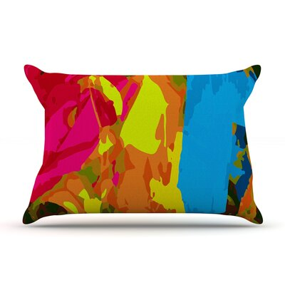 Colored Plastic by Matthias Hennig Featherweight Pillow Sham Size: Queen, Fabric: Woven Polyester