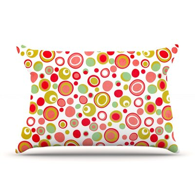 Bubbles by Louise Machado Featherweight Pillow Sham Size: Queen, Fabric: Woven Polyester