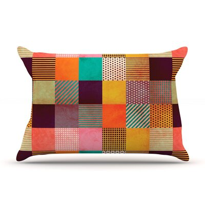 Decorative Pixel by Louise Machado Featherweight Pillow Sham Size: King, Fabric: Woven Polyester