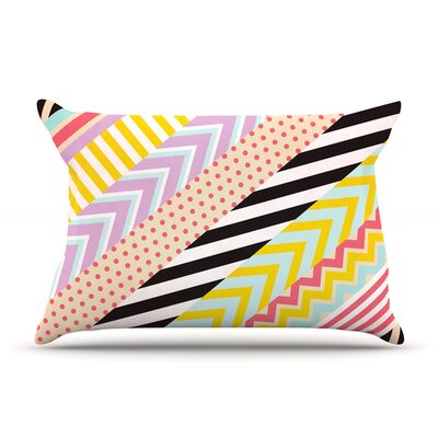 Diagonal Tape by Louise Machado Featherweight Pillow Sham Size: Queen, Fabric: Woven Polyester