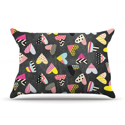 Pieces of Heart by Louise Machado Featherweight Pillow Sham Size: Queen, Fabric: Woven Polyester