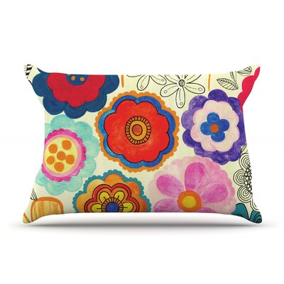 Charming Floral by Louise Machado Featherweight Pillow Sham Size: King, Fabric: Woven Polyester