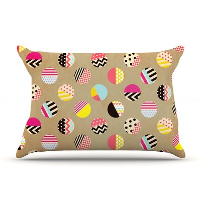 Fun Circle by Louise Machado Featherweight Pillow Sham Size: King, Fabric: Woven Polyester