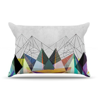 Mareike Boehmer Colorflash 3X Grey Rainbow Featherweight Sham Size: Queen, Fabric: Woven Polyester