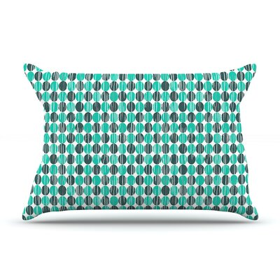 Distressed Circles by Michelle Drew Featherweight Pillow Sham Size: King, Fabric: Woven Polyester