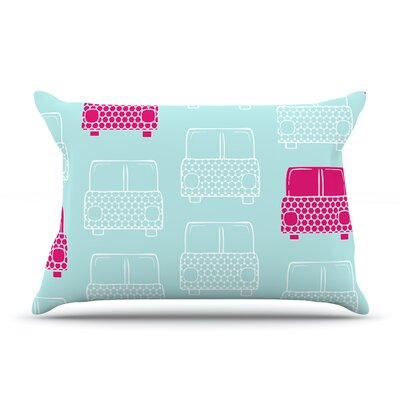 Beep Beep by Michelle Drew Featherweight Pillow Sham Size: Queen, Fabric: Woven Polyester