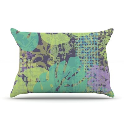 Verdure Collage by Chickaprint Featherweight Pillow Sham Size: Queen, Fabric: Woven Polyester