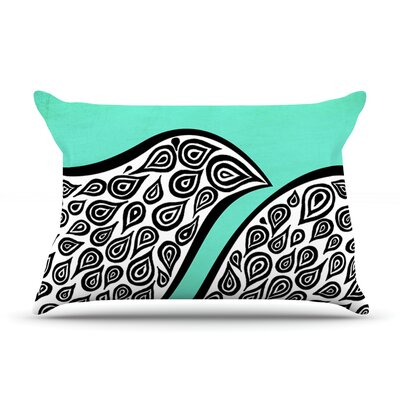 Two Romantic Birds by Pom Graphic Design Featherweight Pillow Sham Size: King, Fabric: Woven Polyester