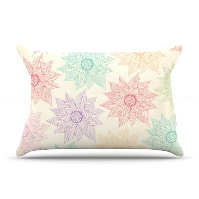 Spring Florals by Pom Graphic Design Featherweight Pillow Sham Size: King, Fabric: Woven Polyester