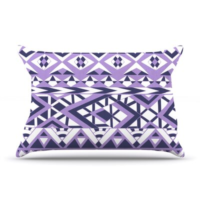 Pom Graphic Design Tribal Simplicity Ii Pillow Case Color: Purple