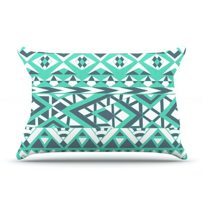 Pom Graphic Design Tribal Simplicity Ii Pillow Case Color: Teal
