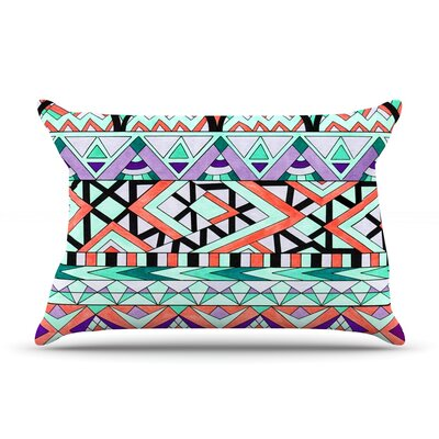 Tribal Invasion by Pom Graphic Design Pillow Sham Size: Queen, Fabric: Cotton