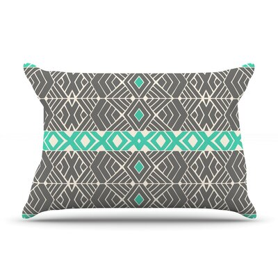Going Tribal by Pom Graphic Design Featherweight Pillow Sham Size: Queen, Fabric: Woven Polyester