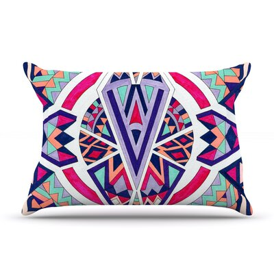 Pom Graphic Design Abstract Journey Circular Tribal Pillow Case