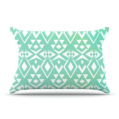 Pom Graphic Design Ancient Tribe Seafoam Pillow Case