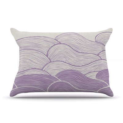 Pom Graphic Design The Calm And Stormy Seas Pillow Case Color: Purple