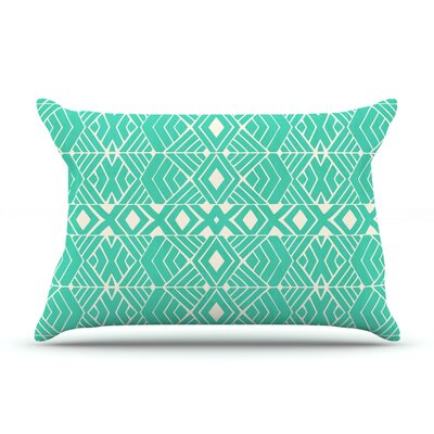 Pom Graphic Design Going Native Pillow Case Color: Teal