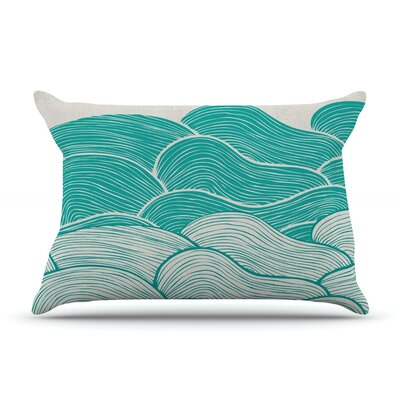 The Calm and Stormy Seas by Pom Graphic Design Featherweight Pillow Sham Size: Queen, Fabric: Woven Polyester