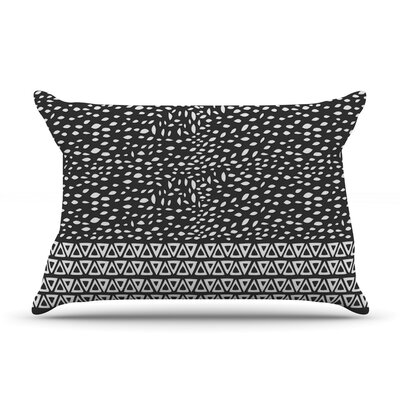 Pom Graphic Design Wind Day Pillow Case Color: Black