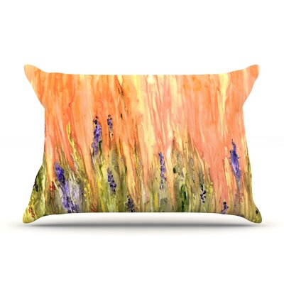 Welcome Spring by Rosie Brown Featherweight Pillow Sham Size: Queen, Fabric: Woven Polyester