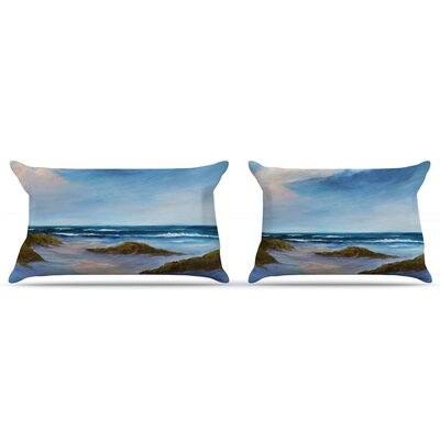 Rosie Brown Wet Sand Beach View Pillow Case