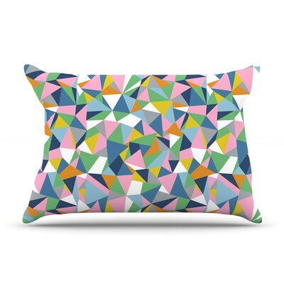 Project M Abstraction Rainbow Abstract Pillow Case Color: Pink