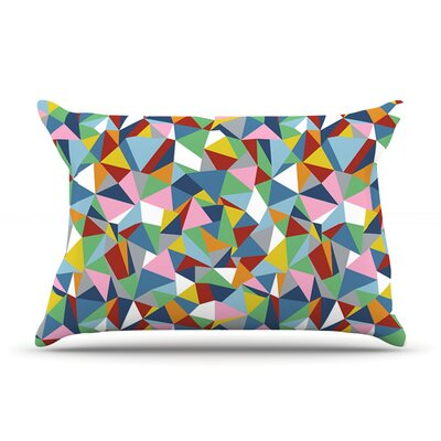 Project M Abstraction Rainbow Abstract Pillow Case Color: Red