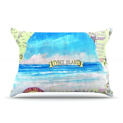 Tybee Island by Rosie Brown Featherweight Pillow Sham Size: Queen, Fabric: Woven Polyester