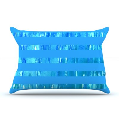 Wet Wild Stripes by Rosie Brown Featherweight Pillow Sham Size: King, Fabric: Woven Polyester