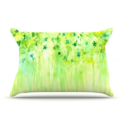 April Showers by Rosie Brown Featherweight Pillow Sham Size: King, Fabric: Woven Polyester