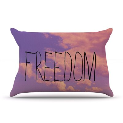 Freedom by Rachel Burbee Featherweight Pillow Sham Size: King, Fabric: Woven Polyester