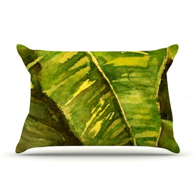 Rosie Brown Tropical Garden Leaf Pillow Case