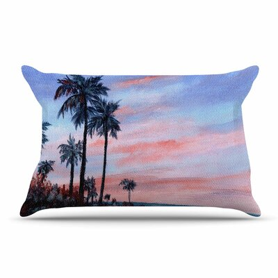 Florida Sunset by Rosie Brown Featherweight Pillow Sham Size: King, Fabric: Woven Polyester