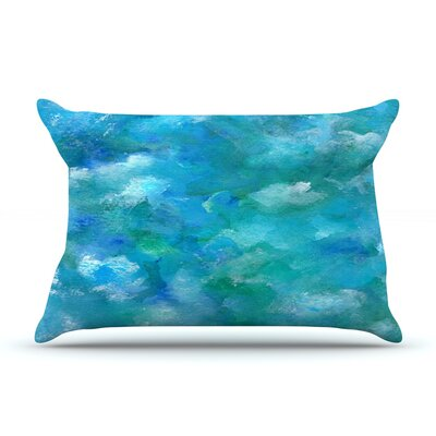 Ocean Waters by Rosie Brown Featherweight Pillow Sham Size: Queen, Fabric: Woven Polyester