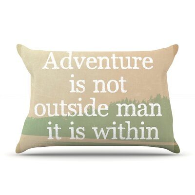 Adventure by Rachel Burbee Featherweight Pillow Sham Size: King, Fabric: Woven Polyester