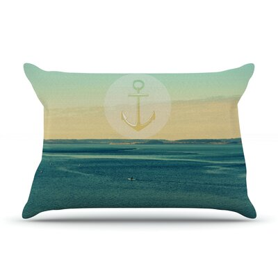 Row Your Own Boat by Robin Dickinson Featherweight Pillow Sham Size: King, Fabric: Woven Polyester