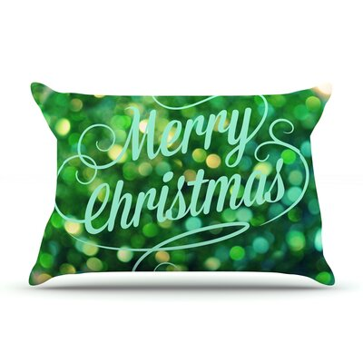 Merry Christmas by Robin Dickinson Featherweight Pillow Sham Size: King, Fabric: Woven Polyester