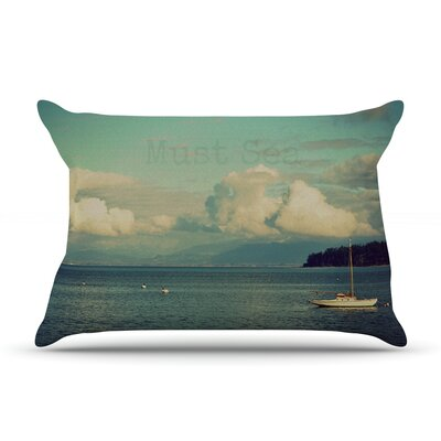 Must Sea by Robin Dickinson Featherweight Pillow Sham Size: King, Fabric: Woven Polyester