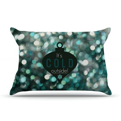Its Cold Outside by Robin Dickinson Featherweight Pillow Sham Size: King, Fabric: Woven Polyester